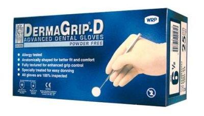 DermaGrip Gelhandschuhe 6.5 puderfrei 25 Stück, 1er Pack (1 x 25 Stück)