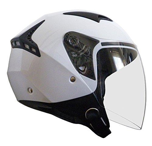 Jethelm Helm Motorradhelm RALLOX G240 weiß mit Langvisier (S, M, L, XL, XXL) Größe L