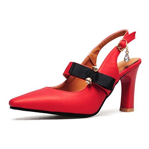 6b0a1e57989 OALEEN Rétro Escarpins Pointus Femme Bride Arrière Strass Talon Haut Chaussures  Sandales Soirée