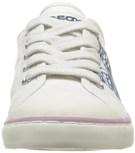 Geox J Ciak G. F, Baskets mode fille Blanc (Off White/Pink)