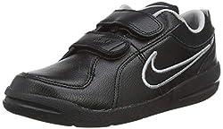 Nike Unisex-Kinder Pico 4 PSV 454500-001 Low-Top, Schwarz (Black/Black-Metallic Silver), 35 EU