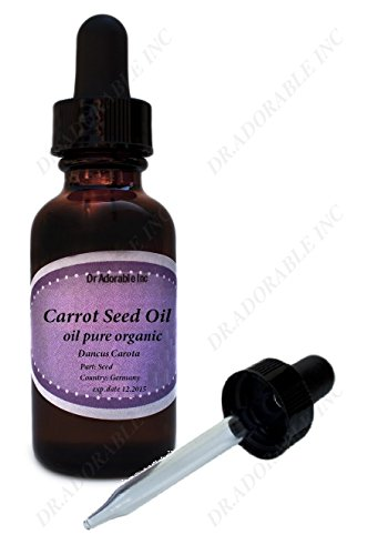 Organic Carrot Seed Oil 100% Pure Cold Pressed 1 Oz with glass dropper