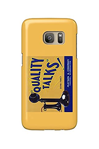 Yakima, Washington - Quality Talks Brand Apple Label (Galaxy S7 Cell Phone Case, Slim Barely There)