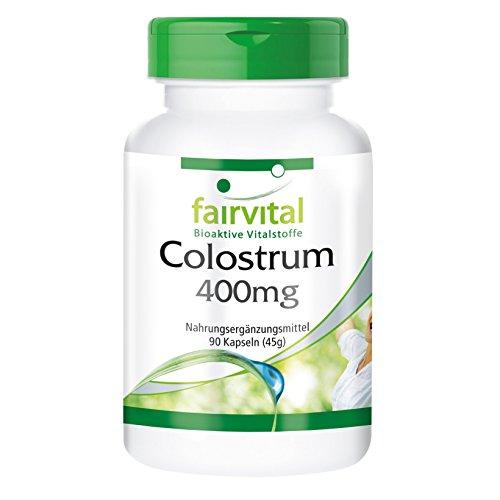 Colostrum 400mg, aus Deutschland BSE-frei, hochrein, schonend verarbeitet, mit Aminosäuren, Vitaminen und Immunglobulinen, 90 Kapseln - unterstützt das Immunsystem
