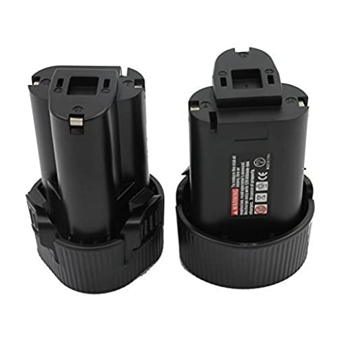 KINSUN 2-Pack Replacement Power Tool Battery 10.8V 1.5Ah Li-Ion for Makita Cordless Drill Impact Driver BL1013, BL1014, 194550-6, 194551-4, 195332-9 and
