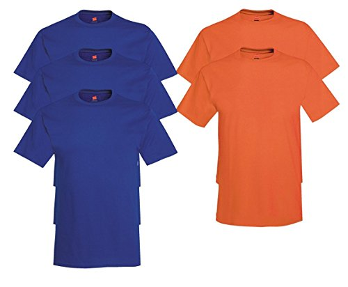 Hanes Men's Tagless Comfortsoft Crewneck T-shirt (Pack of 5) 3 Deep Royal