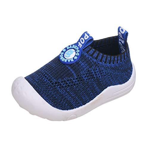 Alwayswin Unisex - Kinder Atmungsaktive Sportschuhe Socken Schuhe Jungen und Mädchen Fliegen Gewebte Hohle Einzelne Schuhe Feste Weiche Mesh Turnschuhe Solide Slip-On Sneaker (Piraten-trenchcoat Männer)