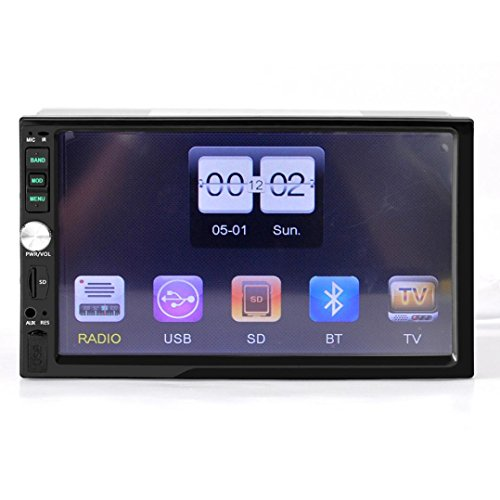 """Lacaca 7""""touch screen 2DIN auto in-dash Bluetooth stereo MP5Lettore audio ricevitore FM, supporto chiamate in vivavoce USB Disk/TF funzione ingresso telecamera posteriore"""