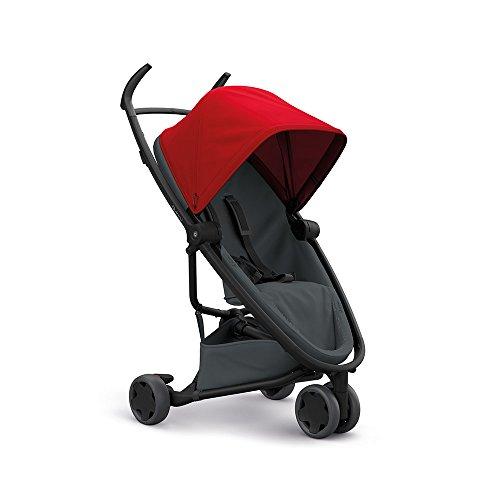 Quinny Zapp Flex Stylischer Komfort-Buggy, mit vielen Extras, leicht, kompakt faltbar, ab der Geburt nutzbar, red on graphite