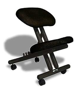 Chaise ergonomique Cinius professionnelle sans dossier couleur Noir