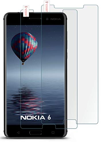 moex 2X 9H Panzerfolie für Nokia 6 (2017) | Panzerglas Bildschirm Glasfolie [Tempered Glass] Screen Protector Glas Bildschirmschutz-Folie für Nokia 6 (2017) Schutzfolie