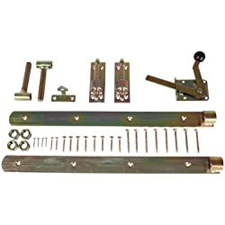 Torband / Torbeschlag Premium für Garten Zaun Einzeltore aus Stahl, gelbverzinkt inkl. Torbänder, Türöffner und Montagematerial