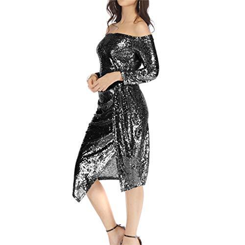 Damen Kleider Sexy Solide Ausschnitt Pailletten Glänzende Quaste Saum Minikleid Partykleid ärmellose Abendkleider Abendröcke Kostüm Hochzeits Business Cocktail Bankett Party Für Mädchen Frauen