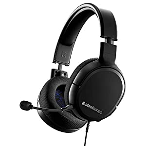 SteelSeries Arctis 1 - All-Platform Compatibility - For PS4, PS5, PC, Xbox, Nintendo Switch & Lite, Mobile - Detachable Clearcast Microphone (PS4)