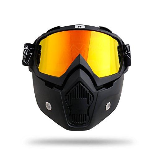 NENKI NK-1019A Detachable Mask With UV Protection Motorcycle Goggle For Motorcross Racing, Skiing,Snowboard
