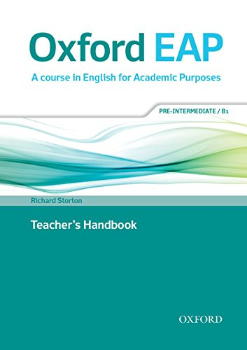 Oxford EAP: Oxford English for Academic Purposes Pre-Intermediate. Teacher's Book and DVD Pack