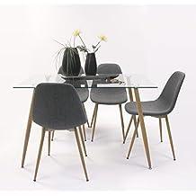 Amazon.es: conjunto mesas y sillas comedor - 4 estrellas y más