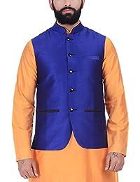 Kisah Royal Blue Dupion Silk Men's Waistcoat