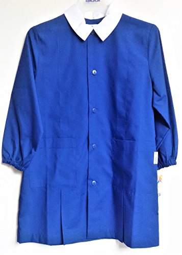 Siggi grembiule scuola maschio colore bluette (7 anni-122 cm)
