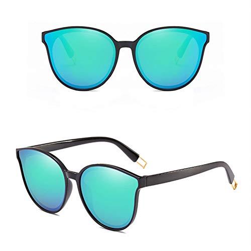 CCTYJ Sonnenbrillen Mode Frauen Farbe Flat Top Cat Eye Sonnenbrille Männer Übergroße Sonnenbrille