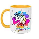 Tasse mit Namen Einhorn Regenbogen