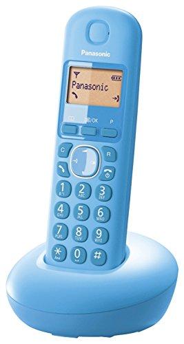 Panasonic KX-TGB210SPF - Teléfono inalámbrico digital (DECT Single, identificación de llamada entrante), azul caribe
