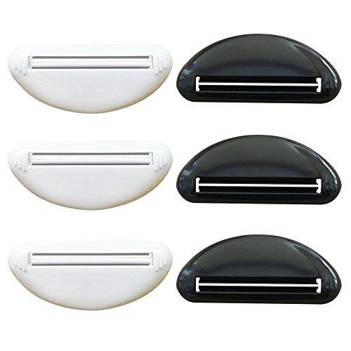 (6 pack halbrunden black & white Zahnpastaquetscher schlichtes Design Familiengebrauch hohe Qualität zu Hause Mode-Stil)
