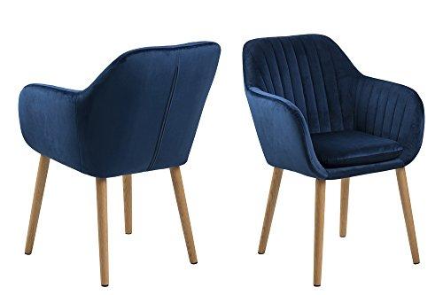AC Design Furniture Stuhl Wendy, B: 57 x T:61 x H: 83 cm, Metall, Blau -
