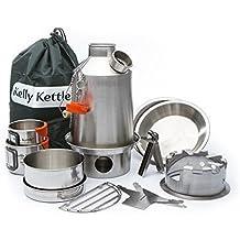 Ultimate Explorar Kelly Kettle Acampada Juego Acero inoxidable VALOR ACUERDO Incluye 1.2 litros Modelo