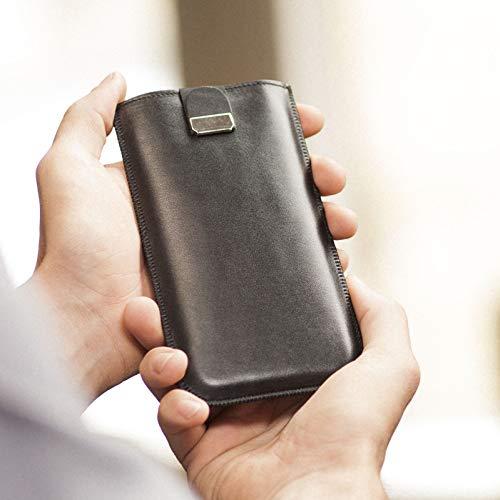 Noir housse en cuir pour LG Q6 étui cover coque case pour pochette en mousse