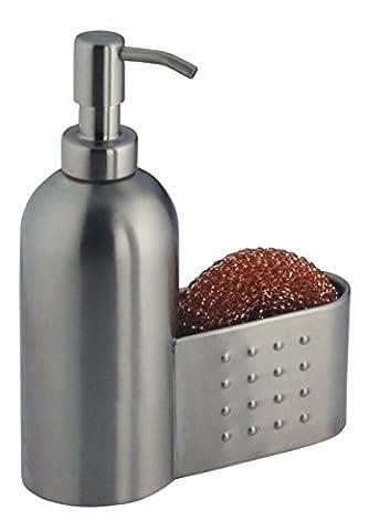 mDesign Distributeur de savon rechargeable et transparent – contenance de