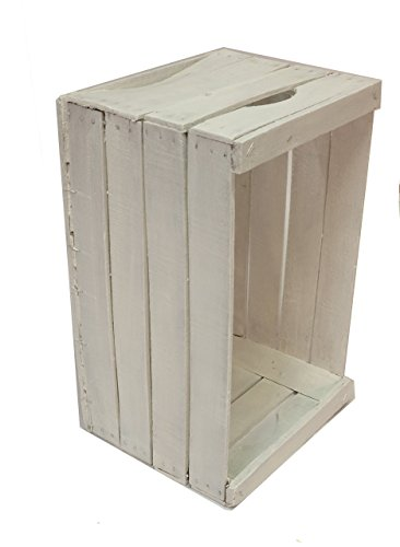 Vintage-Box restauriert und weiß lackiert cm 51x31x28 empfohlen für die Realisierung von Möbeln, Regalen, Bücherregalen // Apfel, Holz, Shabby, Möbel, Design, Recycling Antik-weiße Bücherregal