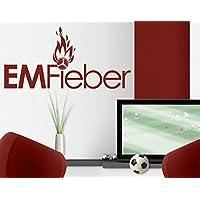 Adesivo da parete No. EK297emfieber Campionati Europei calcio Pallone da calcio Vittoria Team, Verde 064, 70x143-35.00 - Vittoria Verde