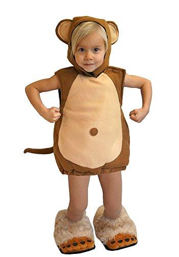 Baby Kinder Affe Kostüm 98/104 Fasching Karneval Halloween Rummelpott ()