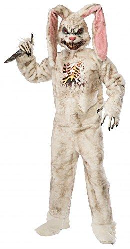 Plüschkostüm Zombie Hase Killerhase Halloween Horror Rotten Rabbit Kostüm blutig (Horror Halloween Kostüm)