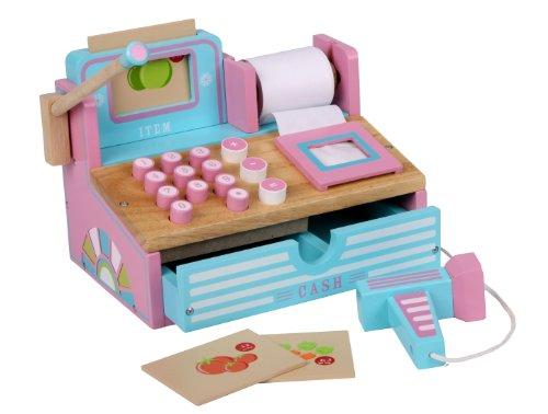 Siva Toys, Registrierkasse, aus Holz, Pink/Hellblau, Modell Siva _269265