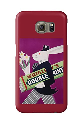 wrigleys-doublemint-rabbit-with-flowers-vintage-poster-usa-c-1934-galaxy-s6-cell-phone-case-slim-bar