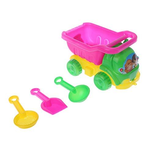 Vivianu 4-teiliges Set Mini Sand Strand Spiel Auto Harken Spielzeug Bagger-Werkzeug für Kinder Jungen Mädchen Outdoor Geschenk