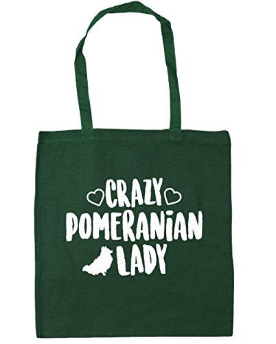 hippowarehouse-crazy-pomeranian-lady-tote-shopping-gym-beach-bag-42cm-x38cm-10-litres