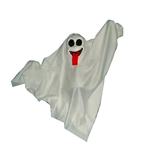 Nihiug Haunted House Bar Bar Requisiten Horror Spoof Party Ghost Electric Ghost Pest Doctor Mould Halloween Maske Freundlich Geist Halloween (Kinder Kostüm Freundlicher Geist)