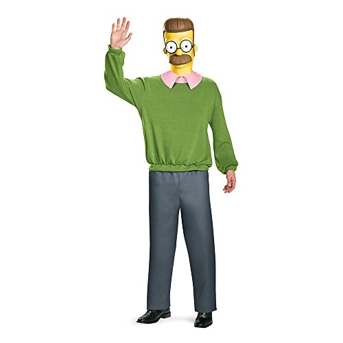 The Simpsons Ned Flanders Deluxe Adult Costume X-Large - Kind's Bart Simpson Kostüm