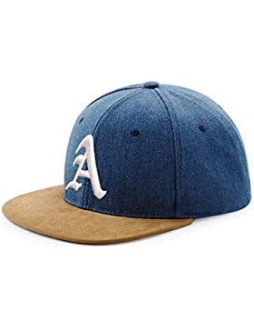 Berretto da Baseball Cap, Cappello SnapBack Scamosciato Snap back-Berretto Hip-Hop, stile 3D gotico A (A White)