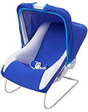 Ehomekart Carry Cot Cum Bouncer - 11 in 1 - Feeding Chair, Baby Chair, Rocker, Bath TUB, Carrying, Bouncer, Bottle Holder & Baby Swing (Blue)