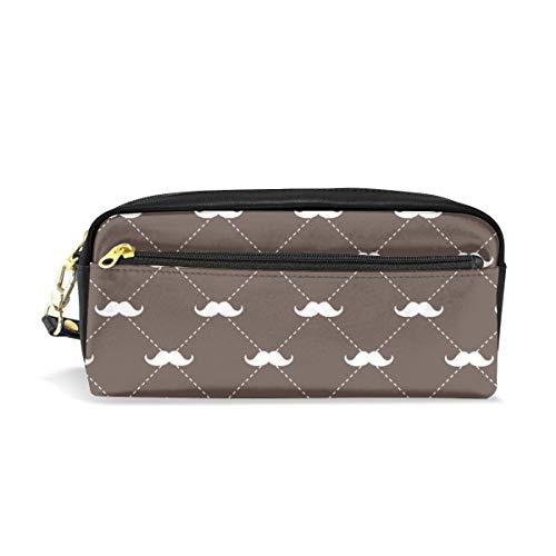 (kleine Skala) Schnurrbärte auf Sattel Brown_2519 Kosmetiktaschen Federmäppchen Portable Travel Makeup Organizer Multifunktions-Tasche Taschen für Frauen -
