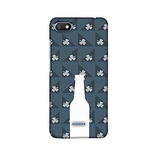 AMZER® Designer Case - Beer and Pattern with shemrock - Teal for Xiaomi Redmi 6A