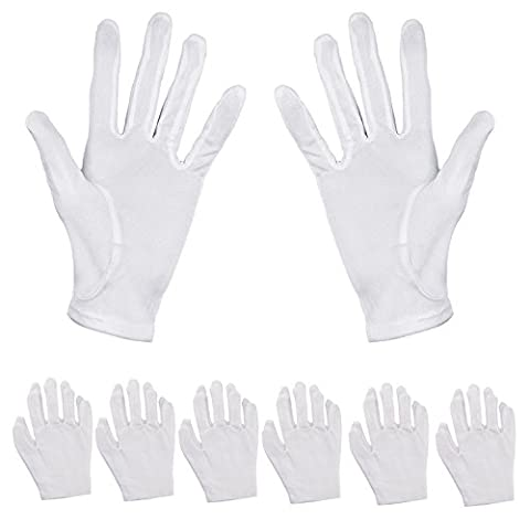 Aboat 6 Pairs Hand Moisturizing Gloves,White Cotton Gloves for Moisturizing