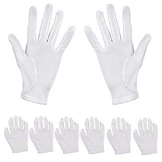 Pack de 6pares de guantes hidratantes Aboat, de algodón blanco, para hidratar las manos
