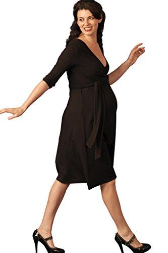 Picchu Maternity -  Indumenti da notte  - avvolgente - Maniche a 3/4 - Donna nero 10