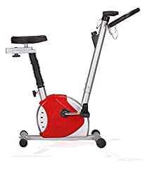 Kobo Exercise Bike / Upright Cycle Ab Care King Cardio Fitness Home Gym (Grey:Red)