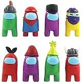 CYSJ 8 PCS Entre Nosotros muñecas, Among Us Game Doll Hot Game Figure, Figures Set de decoración para decoración de Oficina d